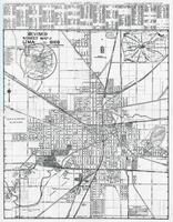 Lima City Street Map, Allen County 1946